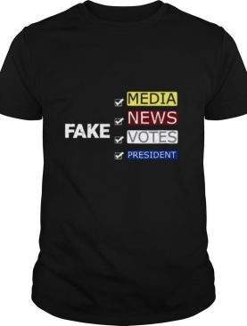 Fake Media News Votes President 2020 Dark shirt