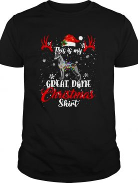 Great Dane Dog This Is My Great Dane Christmas shirt