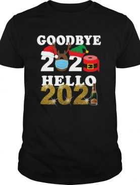 Happy New Year Goodbye 2020 Hello 2021 Face Mask Champagne shirt