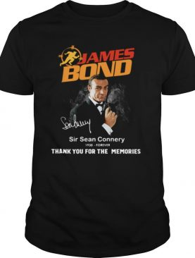 James Bond Sir Sean Connery 1930 Forever Thank You For The Memories Signature shirt