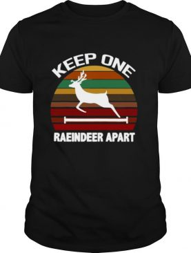 Keep One Reindeer Apart Christmas Quarantine Vintage shirt
