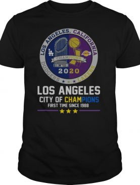 Los Angeles Dodgers And Los Angeles Lakers California City Of Champions First Time Since 1988 shirt