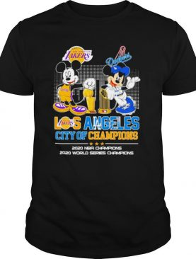 Mickey Mouse Los Angeles Lakers And Dodgers City Of Champions 2020 Nba Champions shirt
