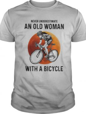 Never Underestimate An Old Woman With A Bicycle Moon Blood shirt