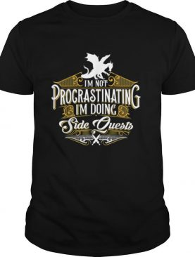 Not Procrastinating Side Quests RPG Gamer Dragons shirt