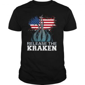 Release The Kraken American Edition Flag shirt