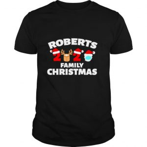 Roberts Family Christmas 2020 Matching Family Name Novelty shirt