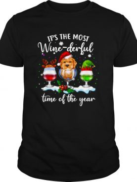 Santa Yorkie It's The Most Wine Derful Time Of The Year Christmas shirt