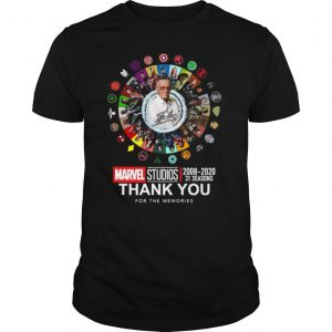 Stan Lee Marvel Studios 2008 2020 31 Seasons Thank You For The Memories Signatures shirt