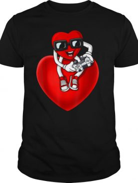 Valentines Day Heart Video Gamer Controller shirt