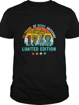 Vintage 1962 59th Birthday Limited Edition 59 Years Old shirt