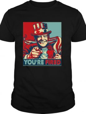 You're Fired Donald Trump American Flag Election shirt