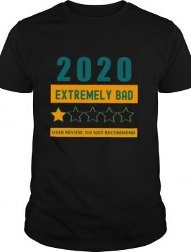 2020 Extremely Bad One Star User Review Do Not Recommend shirt
