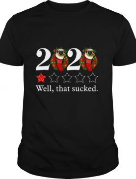 2020 Pug Sock One Star Well That Sucked Christmas shirt