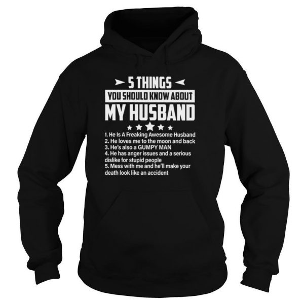 5 Things You Should Know About My Husband shrt