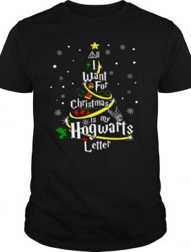 All I Want For Christmas Is My Hogwarts Letter Christmas Tree shirt