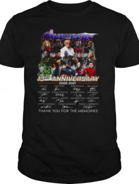 Avengers 13rd Anniversary 2008 2021 Thank You For The Memories shirt