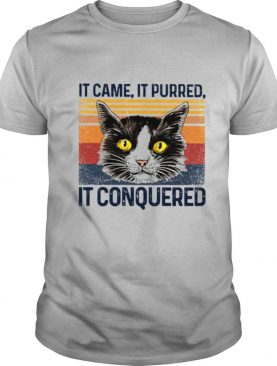 Cat it came it purred it conquered vintage shirt