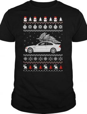 Convertible BMW M3 Ugly Merry Christmas Tree shirt