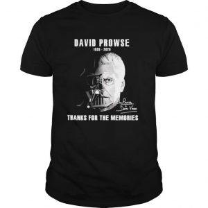 David Prowse 1935 2020 signature thanks for the memories shirt