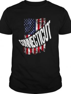 Distressed American Flag Connecticut shirt