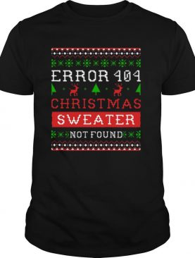 Error 404 Longsleeve Christmas Sweater Not Found Ugly shirt