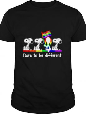 LGBT Pride Snoopy kiss my ass dare to be different shirt