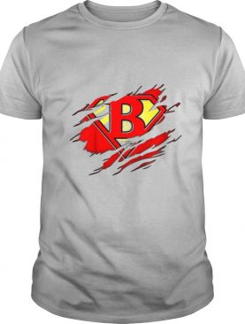Letter B Name Super Hero Accessories shirt