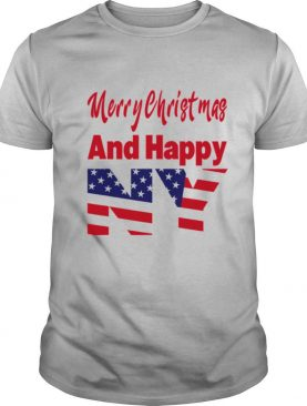 Merry Christmas And Happy New Year Us Flag shirt