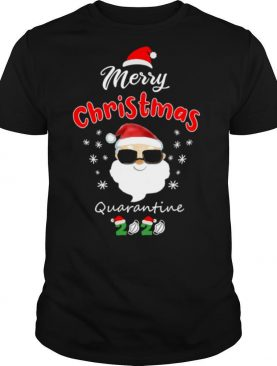 Merry Christmas Quarantine Santa Wear Sunglasses 2020 Family Matching shirt