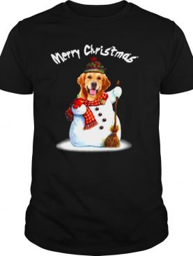 Merry Christmas Snow Golden Retriever shirt