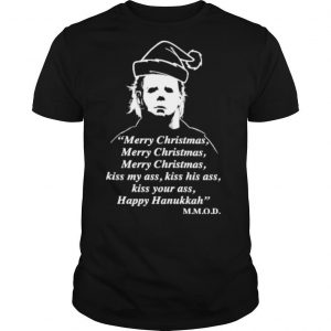 Michael myers merry christmas kiss my ass shirt