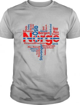 Norway Norge Heart Cities shirt