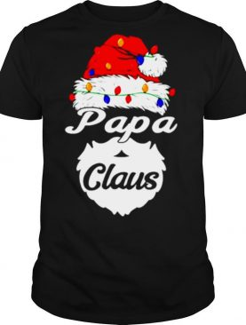 Papa Claus Christmas lights shirt
