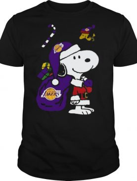 Snoopy and Woodstock Los Angeles Lakers Christmas shirt