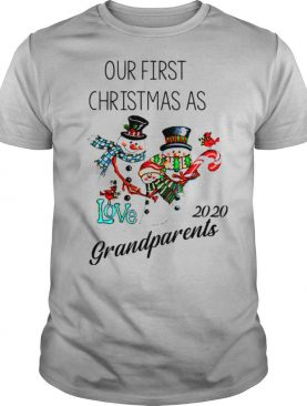 Snowman Our First Christmas Love 2020 Grandparents shirt