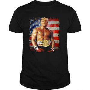 Trump Rocky Fighter American Flag shirt