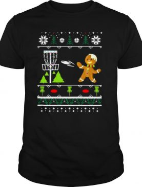 Ugly Disc Golf Christmas Sweater Gingerbread Man shirt