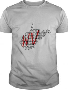 West Virginia Name And Map shirt