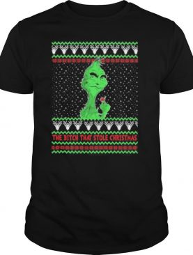 grinch covid the bitch that stole christmas shirt