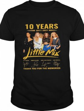 10 years Little Mix thank you for the memories signatures shirt