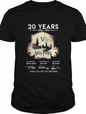 20 Years 2001 2021 Harry Potter Signatures Thank You For The Memories shirt