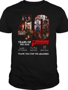 40 Years Of The Shining Signatures Thank You For The Memories shirt