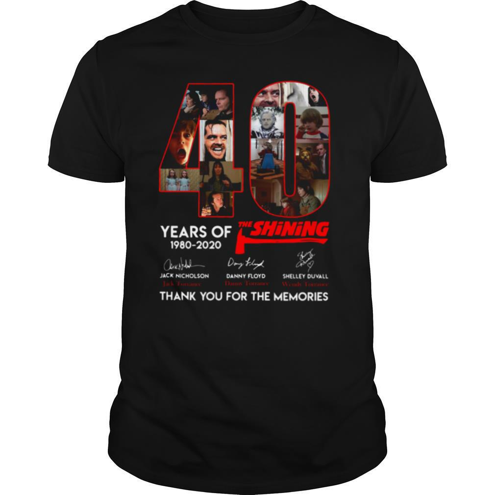 40 Years Of The Shining Signatures Thank You For The Memories shirt0