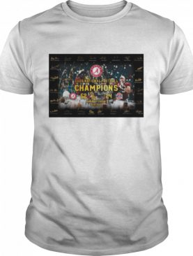 Alabama Crimson Tide Cup 2020 National Champions 52 24 Ohio State Buckeyes Signatures shirt
