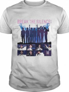 Break the silence bts band signatures shirt