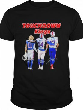 Buffalo bills touchdown kings cole beasley 11 stefon diggs 14 josh allen 17 signatures shirt