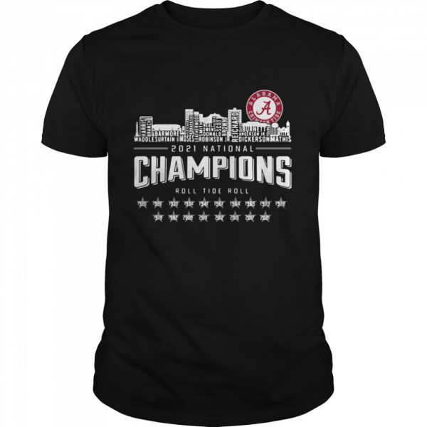 Crimson Tide 2021 national Champions roll Tide roll 1935-2021  Classic Men's T-shirt