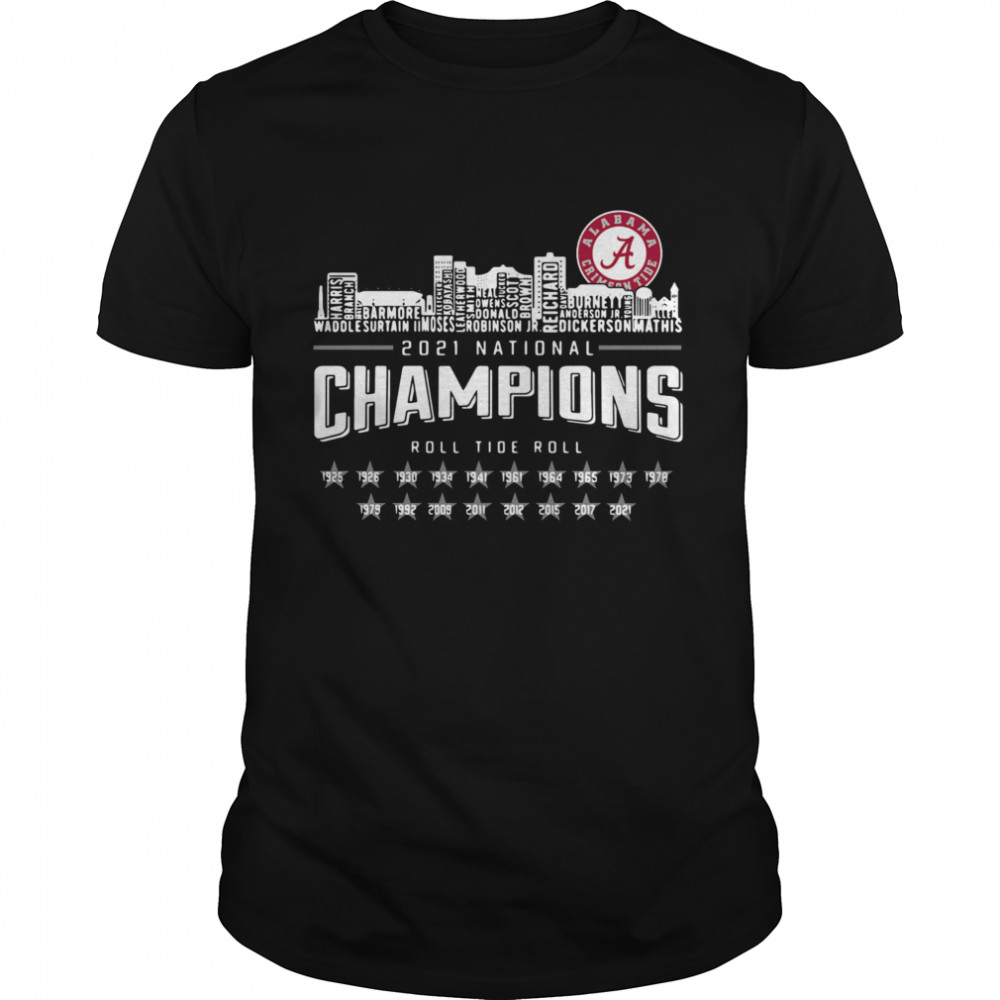 Crimson Tide 2021 national Champions roll Tide roll 1935 2021 Classic Mens T shirt