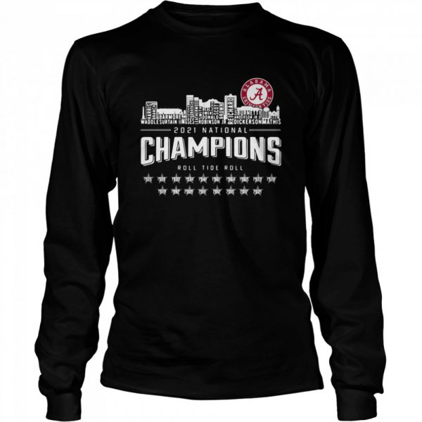 Crimson Tide 2021 national Champions roll Tide roll 1935-2021  Long Sleeved T-shirt
